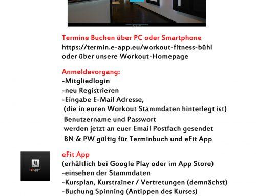 Anleitung Online Terminbuch und eFit App