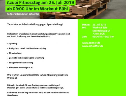 Azubi-Fitnesstag Barmer/Schaeffler im Workout