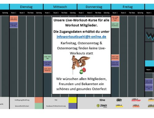 Live-Wokouts Ostern2021